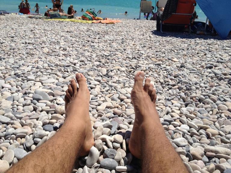 La playa de Moncofa, al contrario que la mayoría de playas, es de piedras en lugar de arena.