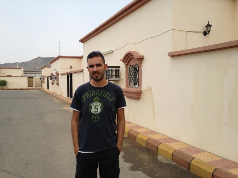 En el compound Bluvan, el lugar donde vivimos los occidentales que trabajamos en Muhayil.